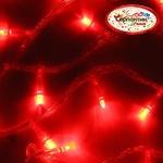 Серпантин Гирлянда электрическая LED H 100 красный, 9,5м, контр,прозр провод, уд, Стандарт