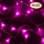 Серпантин Гирлянда электрическая LED H 100, розовый, 9.5м, контр,прозр провод, уд, Стандарт