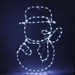 Серпантин Фигура LED Дюралайт Снеговик 63х45 см белый