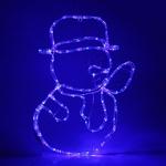 Серпантин Фигура LED Дюралайт Снеговик 63х45 см синий