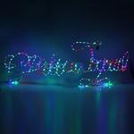Серпантин Фигура LED С Новым Годом 1,6м х 60 см синяя
