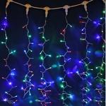 Серпантин Гирлянда электрическая LED Дождь 432 прозрачная (RG\RB) 2х3м.