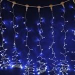 Серпантин Гирлянда электрическая LED Дождь 432 прозрачная, белый, 2х3м, к
