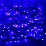 Серпантин Гирлянда электрическая LED 100 внешняя (синих) , (11.5м) 8 режимов, зел.шнур