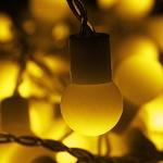Серпантин Гирлянда электрическая LED Бахрома Н 96 Шар жёлтый (3х0,3х0.4х0.5м) с удл. без контр.(п/п)