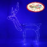 Серпантин Фигура LED Дюралайт Олень (1м*1,15м) с кивком Синяя