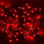 Серпантин Гирлянда электрическая LED 200 внешняя (красных), (15 м) 8 режимов, зел.шнур