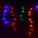 Серпантин Гирлянда электрическая LED Бахрома Н 96 Шар мульти (3х0,3х0.4х0.5м) с удл. без контр.(п/п)