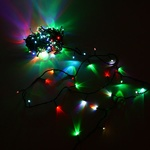 Серпантин Гирлянда электрическая LED 180 (RGB), 15м, (к/к) зел.шнур