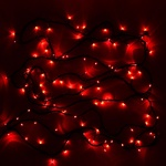 Гирлянда электрическая LED 200 внешняя (красная), (15 м)