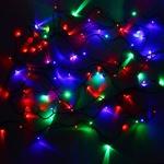 Серпантин Гирлянда электрическая LED 100 внешняя (RGB) (11,5 м), авторежимы, зел.шнур