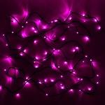Гирлянда электрическая LED 200 внешняя (розовая), (15 м)
