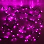 Серпантин Гирлянда электрическая LED 200 внешняя (розовых), (15 м) 8 режимов