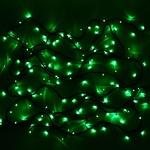Серпантин Гирлянда электрическая LED 100 внешняя (зелёных), (11,5 м) 8 режимов, зел.шнур