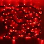 Серпантин Гирлянда электрическая LED 300 внешняя (красных), (20 м) 8 режимов