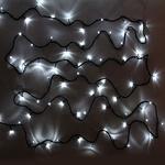 Серпантин Гирлянда электрическая LED 200 внешняя (белых), (15м) 8 режимов, зел.шнур
