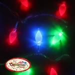 Серпантин Гирлянда электрическая LED H 50 Шишка  ,RG/RB, 7 м, пр/пр