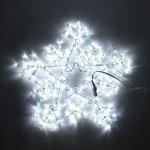 Серпантин Фигура LED Дюралайт Снежинка 2 конт 50см белая