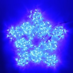 Серпантин Фигура LED Дюралайт Снежинка 2 конт 50см синяя