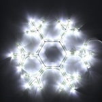 Серпантин Фигура LED Дюралайт Снежинка2 35см белая