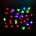 Серпантин Гирлянда электрическая LED Н 32 Бабочка большая  RG\RB 5,5м