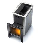 Печь банная (каменка) Тунгуска 16 ВИТРА Антрацит с теплообменником (Термофор)