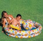 Бассейн детский 122*25 см *Шары* с мячом и кругом 59460 INTEX 114л