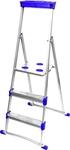 Лестница стремянка для рыхлых поверхностей 0,62 м, 3 ступени Ника