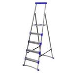 Лестница стремянка для рыхлых поверхностей 1,06 м, 5 ступеней Ника