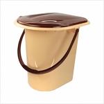 Ведро-туалет коричневое 17л