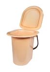 Ведро-туалет бежевое 18л