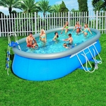Бассейн каркасный Oval Fast Set Pool Set 549*366*122 см  56153 Bestway