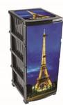 Комод 4-х сек с рисунком Декор Париж New