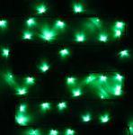 Гирлянда для улицы 20м240 ламп LED чёрный провод, зеленый