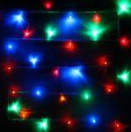 Гирлянда для дома 13м 152 лампы LED прозрач.пров. Мультицвет