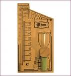 Термометр 27,8*14*5,3см с песочными часами для бани и сауны