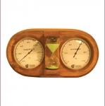 """Термометр, гигрометр и песочные часы """"3 в 1"""" 27*13,8*7,5 см"""